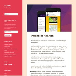 Padlet for Android – Graffiti