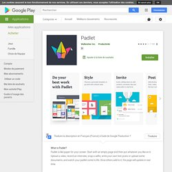 ♥ Padlet – Applications sur GooglePlay