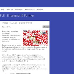 #Tice PADLET - L'évidence ! - Site Jimdo de denisgerard!