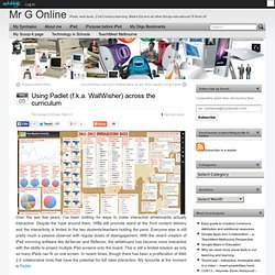 Using Padlet (f.k.a. WallWisher) across the curriculum