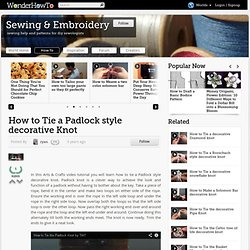 How to tie a Padlock style decorative Knot
