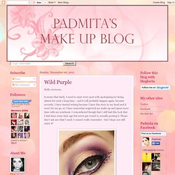 Padmita's Make Up Blog