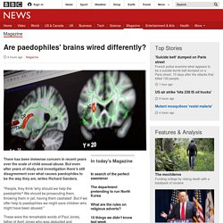 Are paedophiles' brains wired differently?