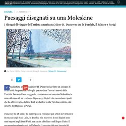 Paesaggi disegnati su una Moleskine