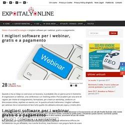 I migliori software per i webinar, gratis e a pagamento