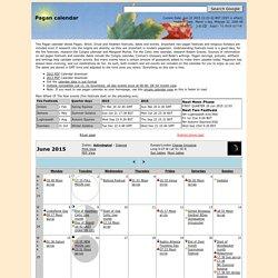 Pagan Calendar - April 2012