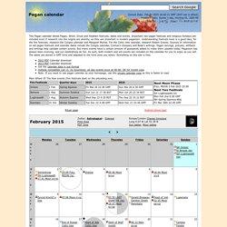 Pagan Calendar - February 2015