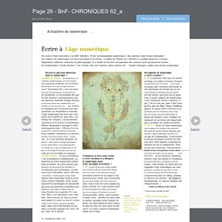Page 26 - BnF- CHRONIQUES 62_a (2012)
