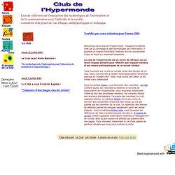 Page d'accueil du club de L'Hypermonde