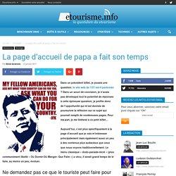Article Etourisme.info // La page d'accueil de papa a fait son temps