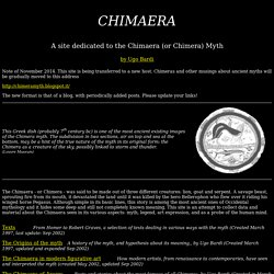The Page of the ancient Chimera - or Chimaera - myth