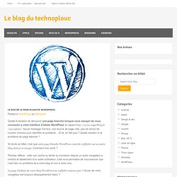 Page blanche Wordpress zone Admin