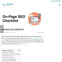 On-Page SEO Checklist