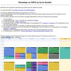 Page de la MPSI du lycee Daudet