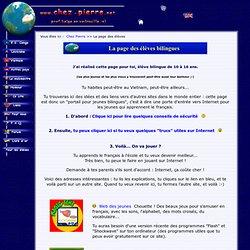 La page des élèves bilingues (FLE / FLS)
