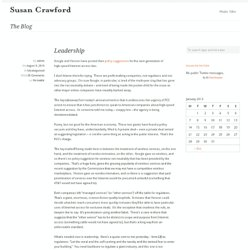 Leadership | Susan Crawford blog