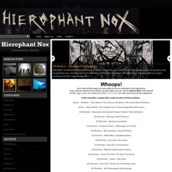 Hierophant Nox | News