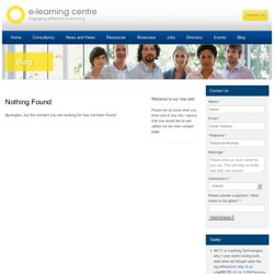 e-Learning Centre: Facilitating online learning