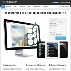 Page flip interactif - PDF flash virtuel