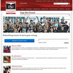 East Stroudsburg University - Academics - Media Communication & Technology