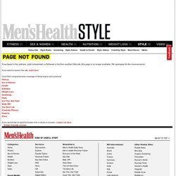 www.menshealth.com/style/dos-and-donts/