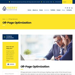 Off-Page Optimization SEO Techniques