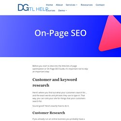 On Page SEO - Optimize Your Website To Rank Higher