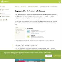La page outils : Se former à la botanique