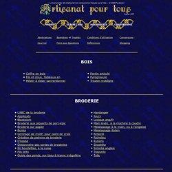 """Page personnelle """"Artisanat pour tous"""""""