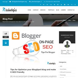 On Page SEO Tips For Blogger