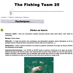 Page Technique THE FISHING TEAM 25