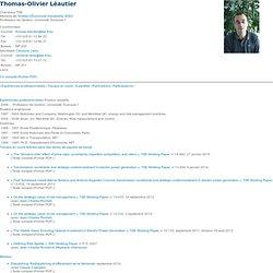 Page web de Thomas-Olivier Léautier