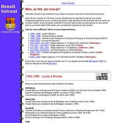 Page Web de Benoit Salvant