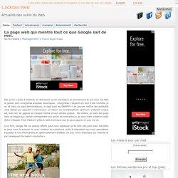 Page web qui montre tout ce que Google sait de moi.