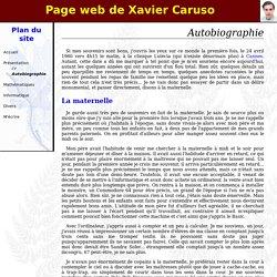 Page web de Xavier Caruso