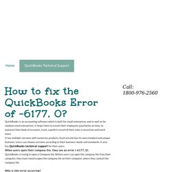 Your page4 homepage - How to fix the QuickBooks Error of -6177, 0?