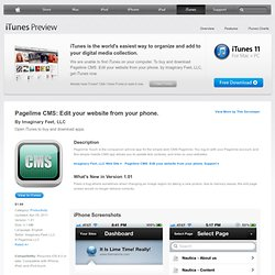 Pagelime CMS: Edit your website from your phone.