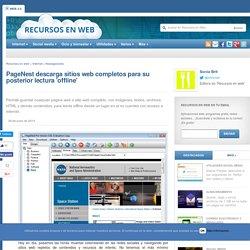 PageNest descarga sitios web completos para su posterior lectura offline