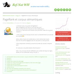PageRank et corpus sémantiques