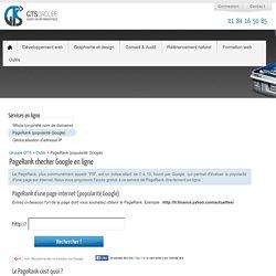 PageRank Google checker gratuit en ligne : popularité d'une page sur internet