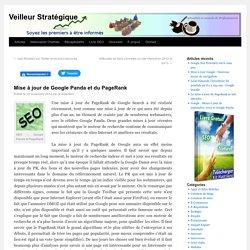 Mise à jour de Google Panda et du PageRank