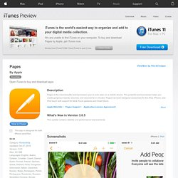 Pages for iPhone 3GS, iPhone 4, iPod touch (3rd generation), iPod touch (4th generation), and iPad on the iTunes App Store