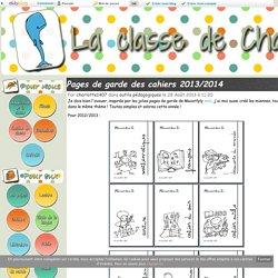 Pages de garde des cahiers 2013/2014
