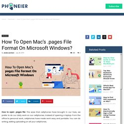 How To Open .Pages File Format On Microsoft Windows?