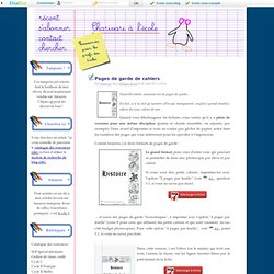 Pages de garde de cahiers