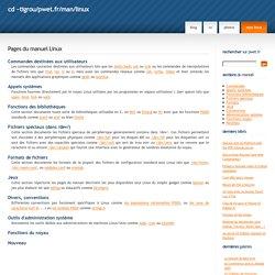 Pages du manuel Linux - ~tigrou/pwet.fr