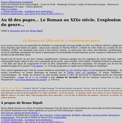 Au fil des pages… Le Roman au XIXe siècle. L'explosion du genre…