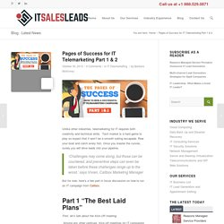 Pages of Success for IT Telemarketing