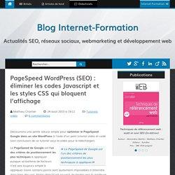 PageSpeed WordPress (SEO) : éliminer les codes Javascript et les styles CSS qui bloquent l'affichage