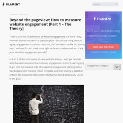 Beyond the Pageview: Measure website engagement (Theory)
